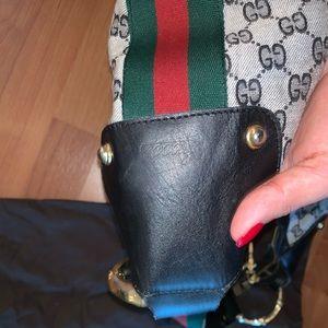 Gucci Bags - Gucci Canvas Vintage Bamboo Hobo Bag